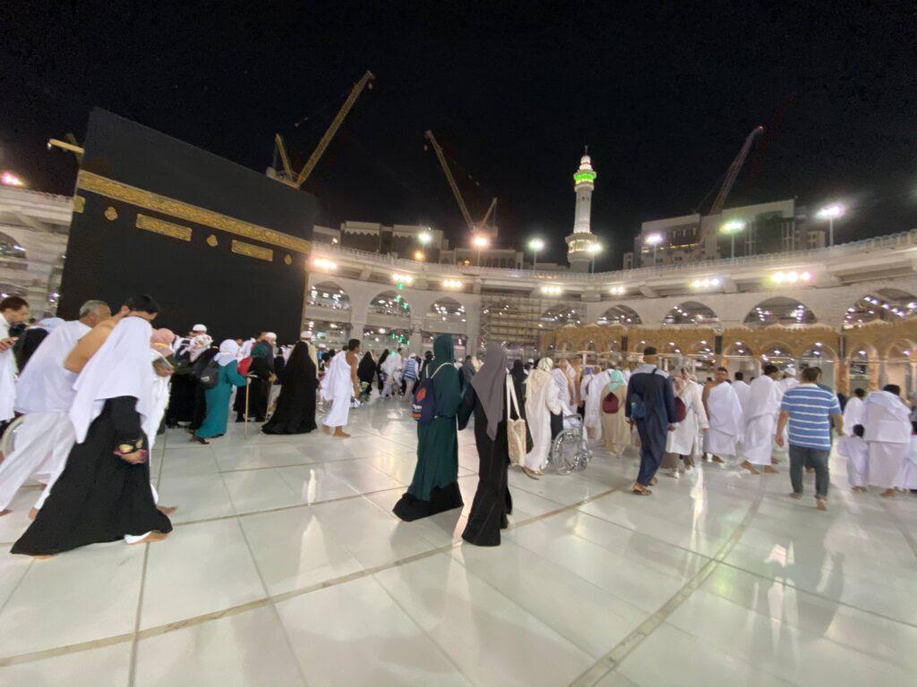 pilgrims near the kaaba