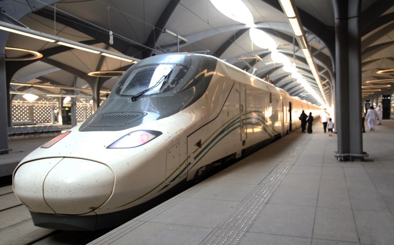 train going from Mecca to Medina