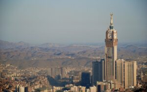 City of Mecca located in Saudi Arabia