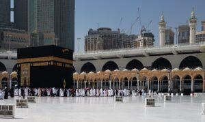 Kaaba located in Mecca, Saudi Arabia