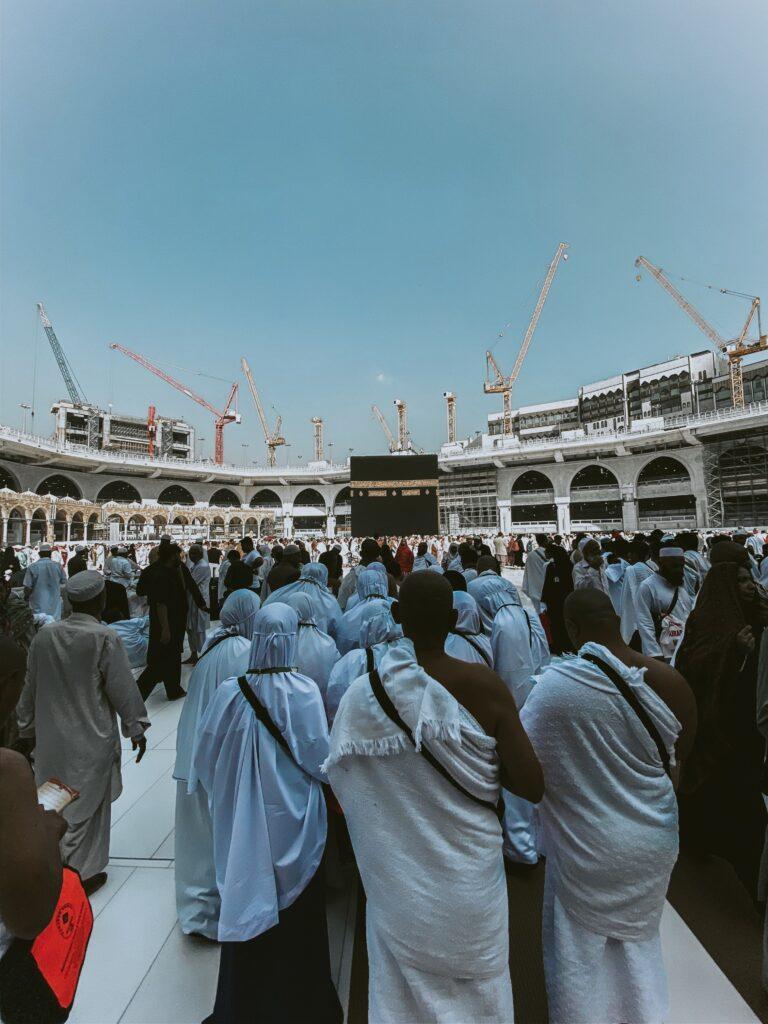 Muslims from around the world conducting their pilgrimage in Saudi Arabia