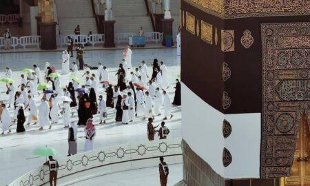 hajr e aswad black Stone from heaven located on the kaaba